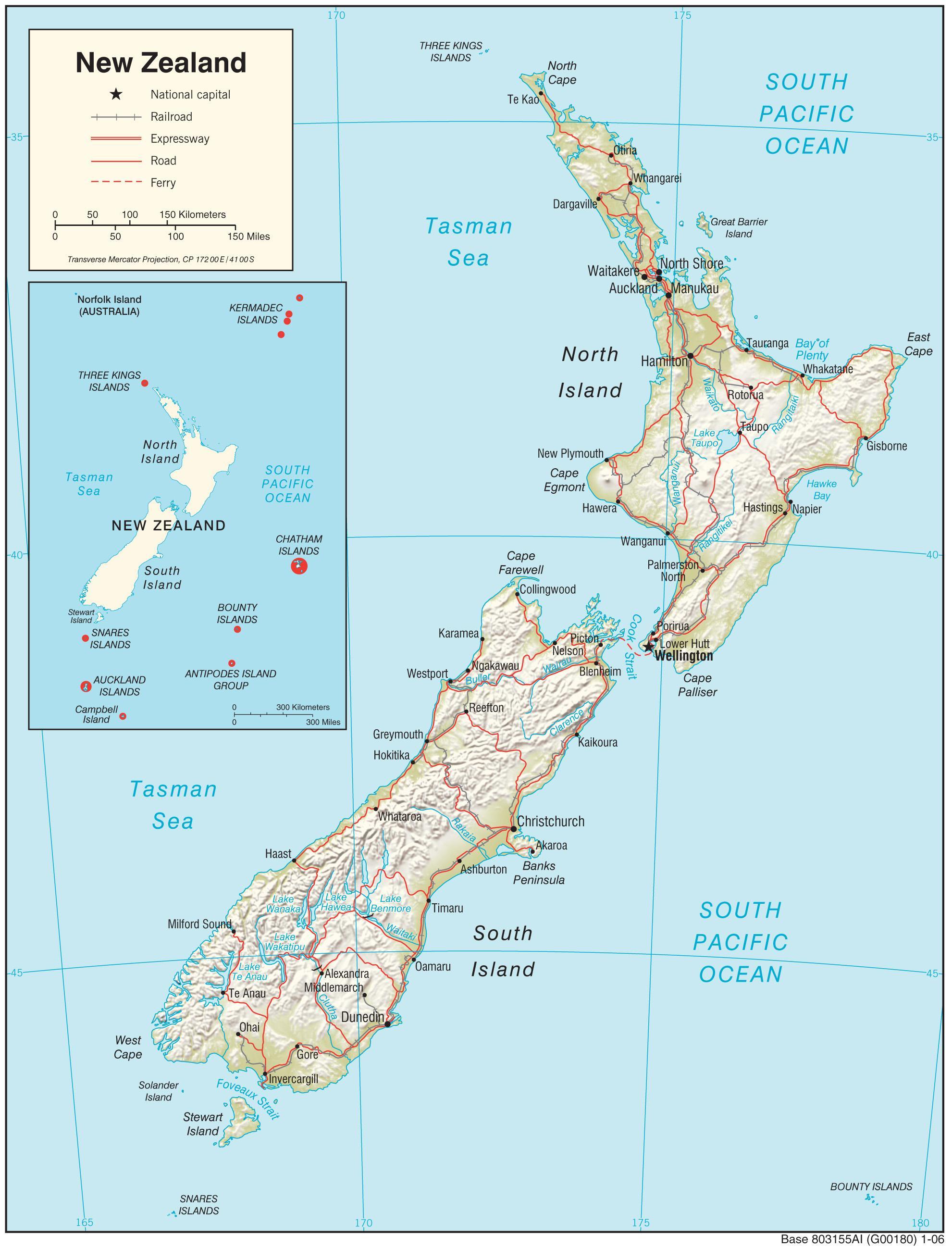 Noua Zeelandă Harta Noua Zeelandă Hartă Hd Australia și Noua